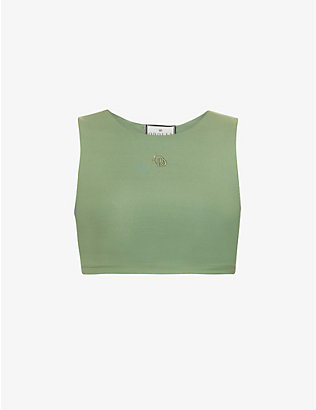 ODOLLS COLLECTION: Cropped fitted stretch-woven crop top