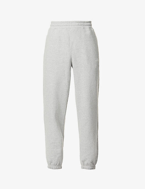 STUSSY: Logo-embroidered cotton-jersey jogging bottoms
