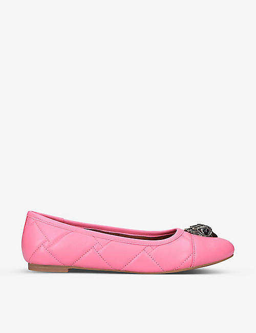 KURT GEIGER LONDON: Emmy quilted leather ballet pumps