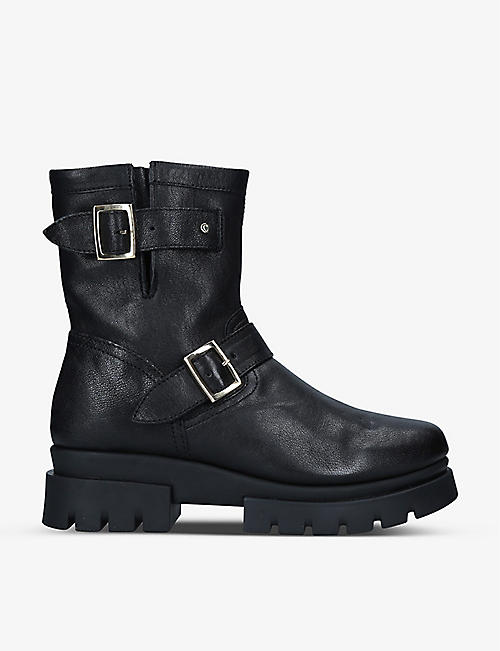 CARVELA COMFORT: Run leather biker boots