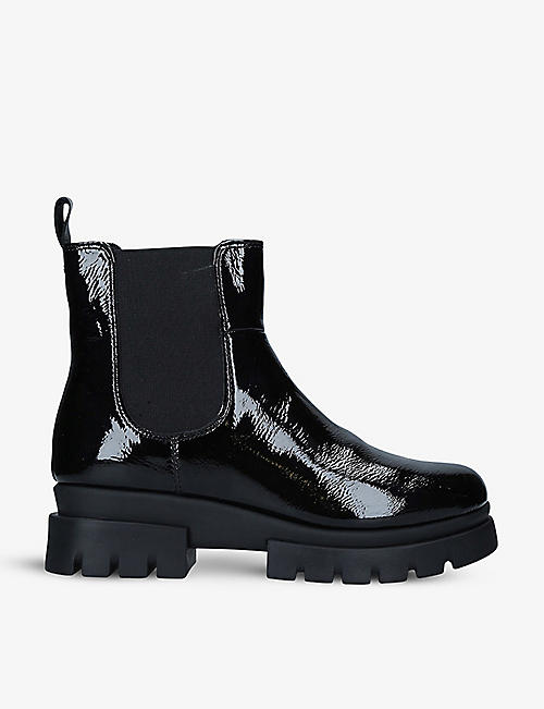 CARVELA COMFORT: Run patent leather Chelsea boots
