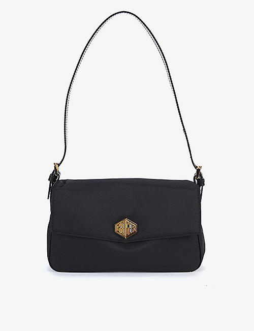 KURT GEIGER LONDON: Geiger 2.0 recycled nylon and leather shoulder bag