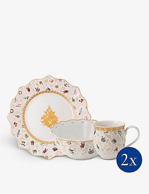 VILLEROY & BOCH: Toy's Delight Anniversary Edition Breakfast for two porcelain set of six