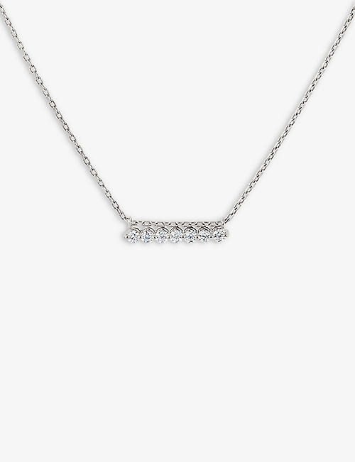 THE ALKEMISTRY: Dinny Hall Shuga Bar Slider 14ct white-gold and diamond necklace