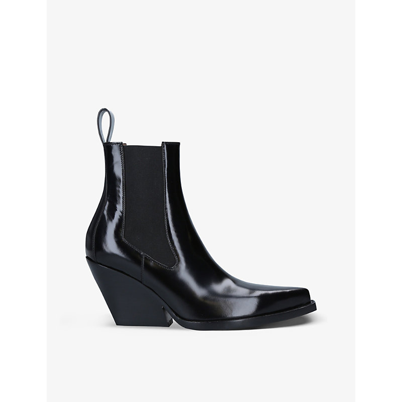 Bottega Veneta THE LEAN PATENT LEATHER CHELSEA BOOTS