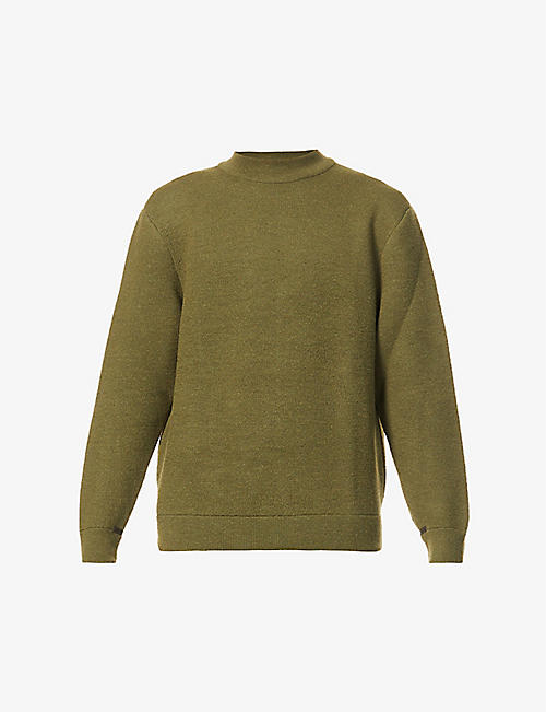 THE INOUE BROTHERS: Mock-neck ribbed-trim alpaca jumper