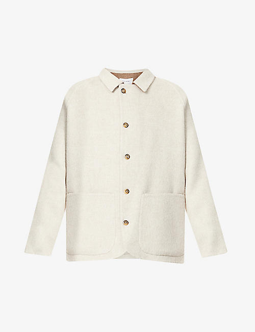 THE INOUE BROTHERS: Boxy-fit raglan-sleeved alpaca-blend jacket