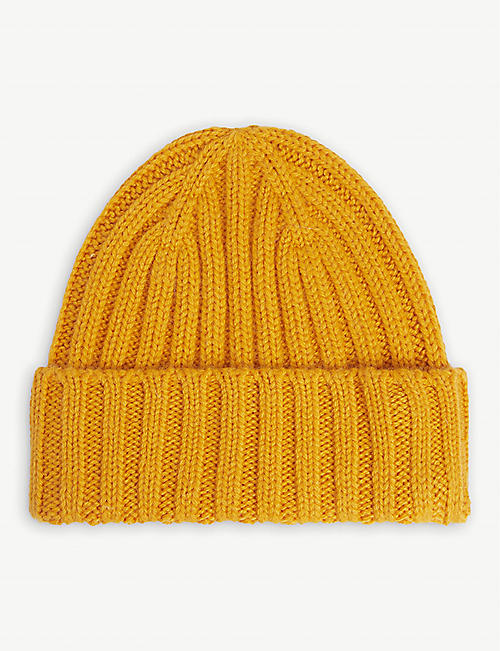 THE INOUE BROTHERS: Ribbed alpaca-wool beanie