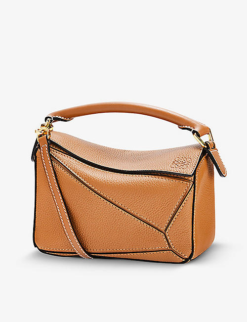 LOEWE: Puzzle mini leather shoulder bag