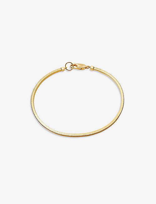 MISSOMA: Square Snake 18ct yellow gold-plated vermeil silver chain bracelet