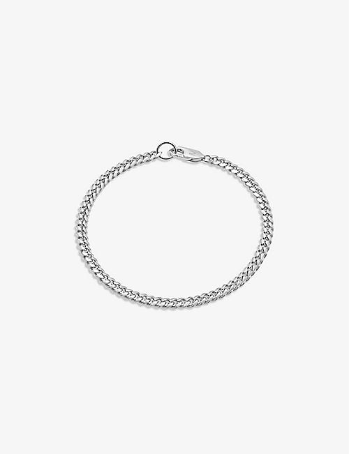 MISSOMA: Curb-chain 18ct rhodium-plated sterling-silver bracelet