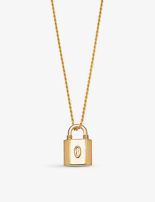 MISSOMA: Ridge 18ct yellow gold-plated vermeil brass necklace