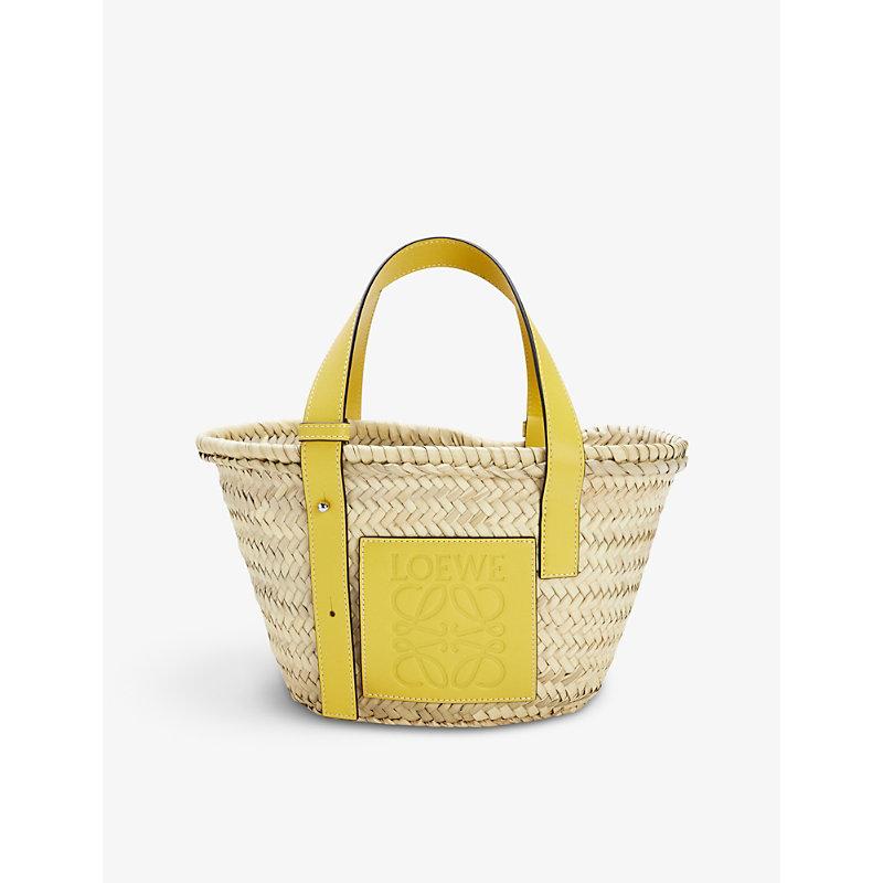 Loewe Leathers SMALL WOVEN RAFFIA BASKET BAG