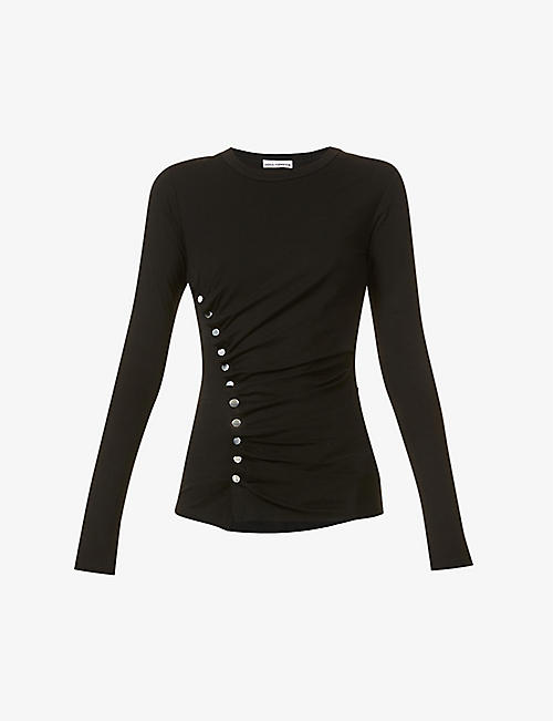 PACO RABANNE: Gathered stretch-jersey top