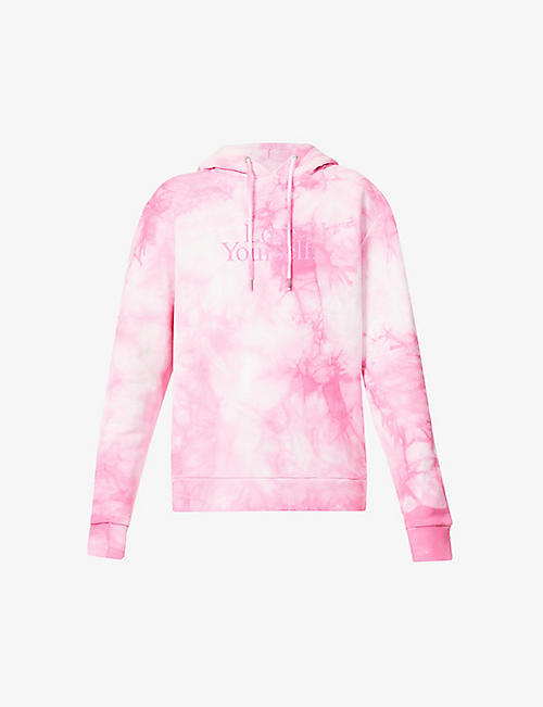 PACO RABANNE: Lose Yourself tie dye-print cotton-jersey hoody