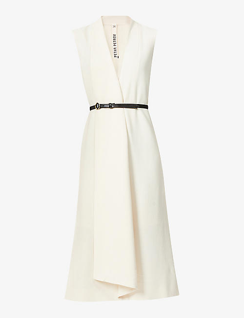 PETAR PETROV: Alen sleeveless wool midi dress