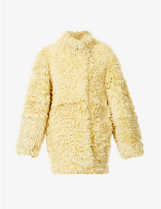 PETAR PETROV: Macawi oversized textured shearling coat