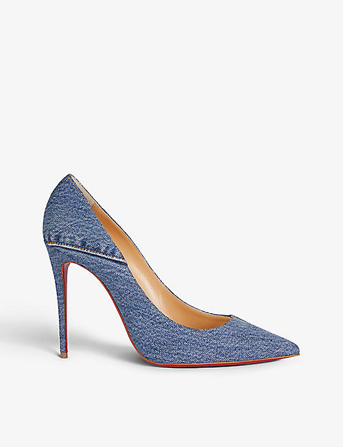CHRISTIAN LOUBOUTIN: Kate 100 denim blue