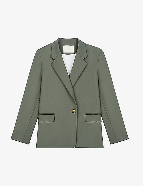 MAJE: Vasta single-breasted stretch-wool blazer
