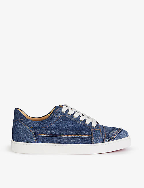 CHRISTIAN LOUBOUTIN: Vieira flat denim blue