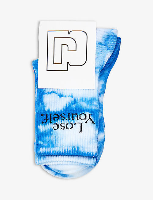 PACO RABANNE: Paco Rabanne x Peter Saville graphic-print cotton-blend socks