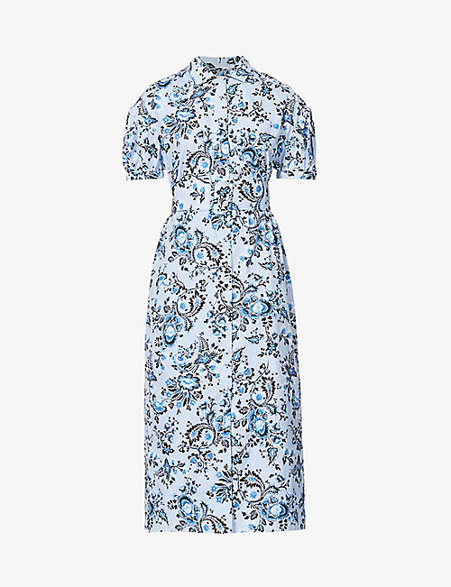 ERDEM: Frederick floral-print cotton midi dress