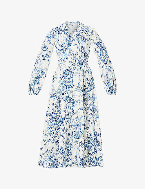 ERDEM: Kendrick floral-print cotton midi dress