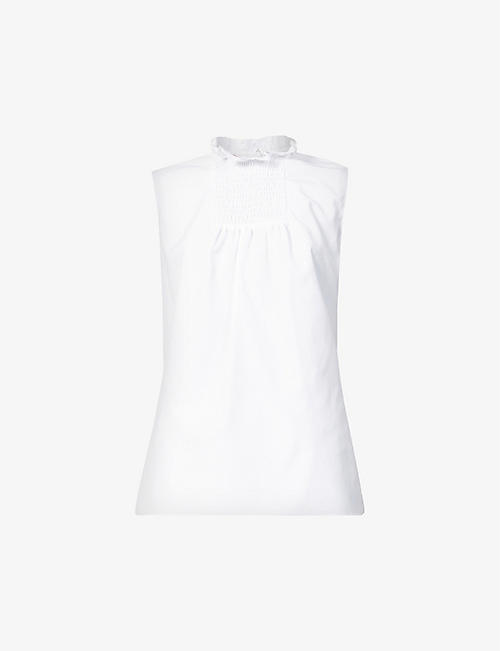 ERDEM: Ralph sleeveless cotton-poplin top
