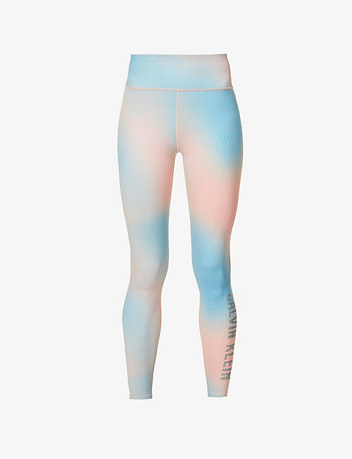 CALVIN KLEIN: CK Performance ombre-print stretch-jersey leggings