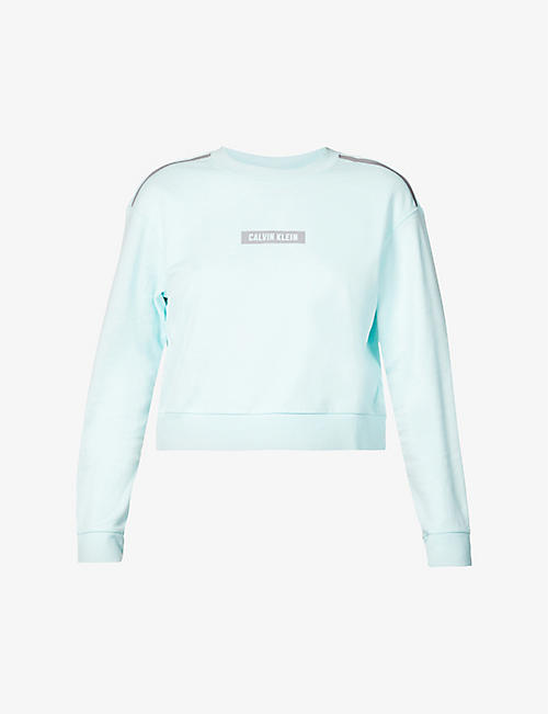 CALVIN KLEIN: CK Performance logo-print cotton sweatshirt