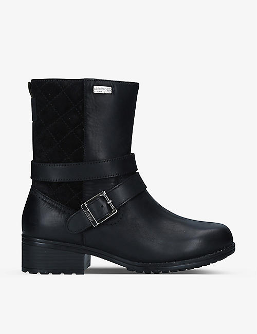 BARBOUR: Garda buckle-embellished leather ankle boots