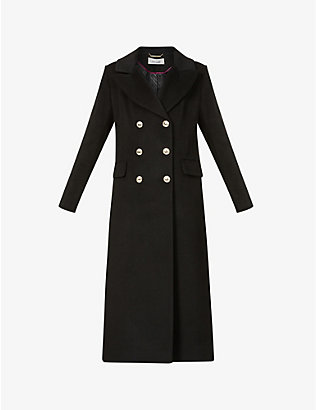 DIANE VON FURSTENBERG: Lynnlee double-breasted wool-blend coat