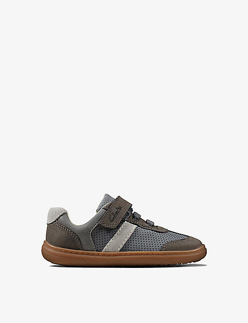 CLARKS: Flash Step leather trainers 0-12 years