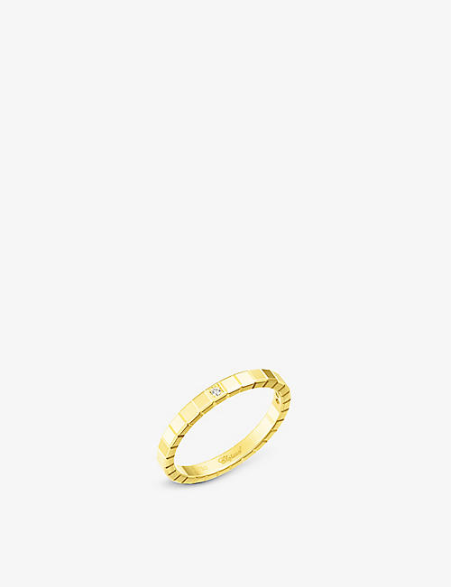 CHOPARD: Ice Cube 18ct yellow-gold and diamond ring