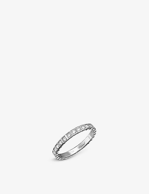 CHOPARD: Ice Cube 18ct white-gold and diamond ring