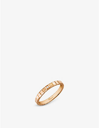 CHOPARD: Ice Cube 18ct rose-gold and diamond ring