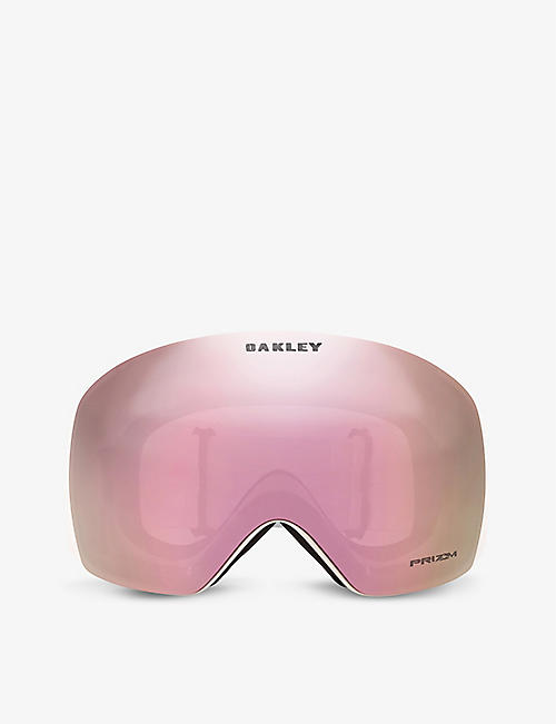 OAKLEY: OO7050-84 Flight Deck rectangle-frame acetate Prizm ski goggles