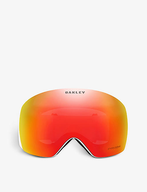 OAKLEY: OO7050-87 Flight Deck rectangle-frame acetate Prizm ski goggles