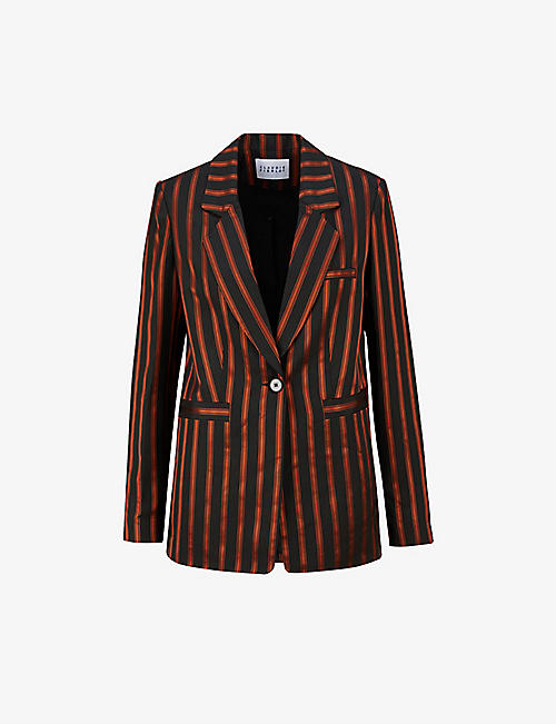 CLAUDIE PIERLOT: Voltigeuse striped satin blazer