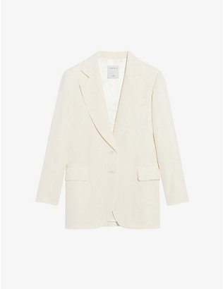 SANDRO: Leane single-breasted woven blazer