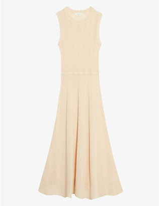SANDRO: Juliane self-tie woven dress