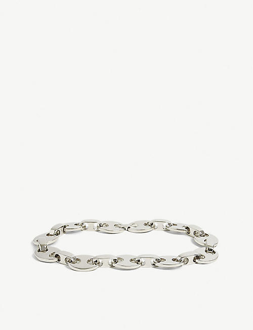 PACO RABANNE: Eight silver-tone chunky necklace