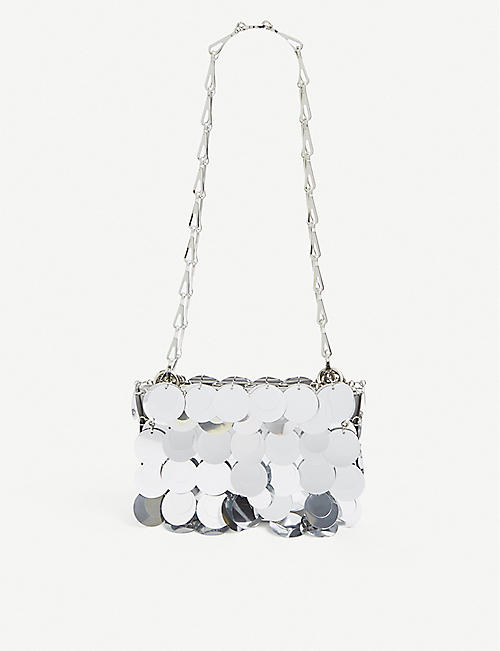 PACO RABANNE: Sparkle Disk Nano cross-body bag