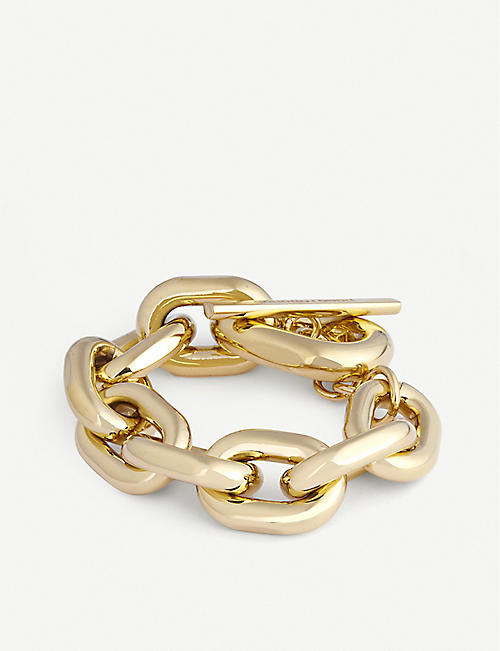 PACO RABANNE: XL Link gold-tone chunky-chain bracelet