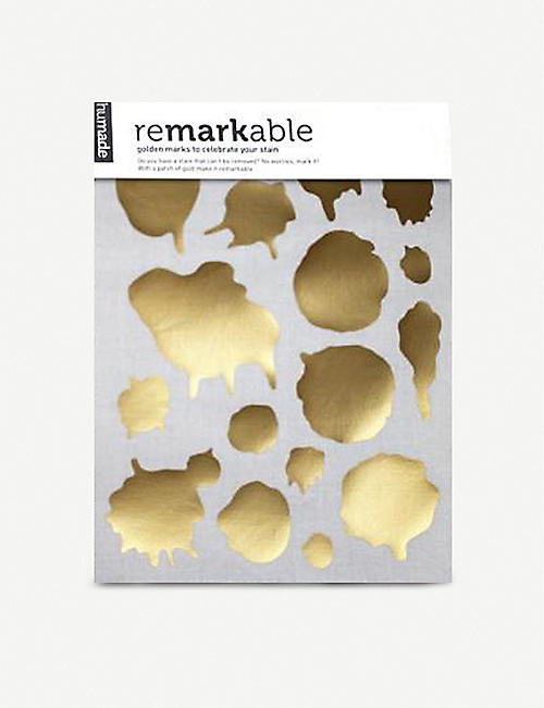 HUMADE: reMARKable gold iron-on marks