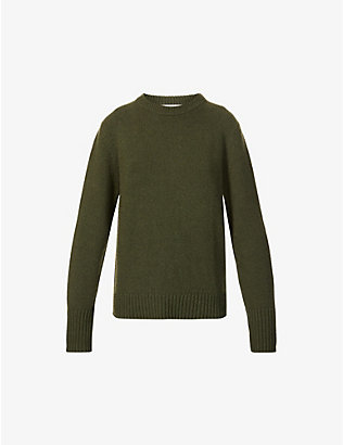 RILEY STUDIO: Scoop-neck recycled cashmere and wool-blend jumper