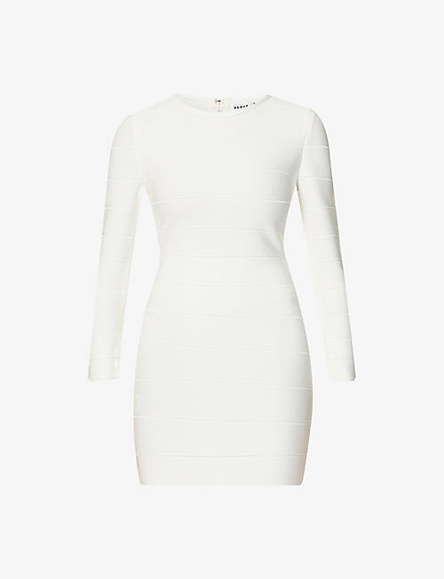 HERVE LEGER: Bandage fitted stretch-jersey mini dress