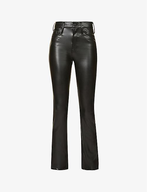 MOTHER: Insider high-rise faux-leather trousers
