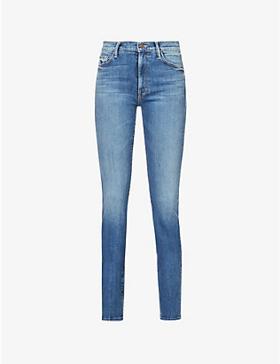 MOTHER: Insider mid-rise cropped stretch-cotton jeans