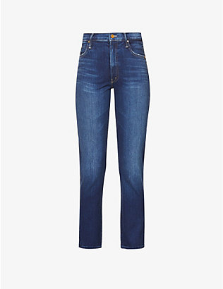 MOTHER: Swooner Rascal high-rise slim-fit stretch-cotton jeans